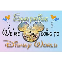 Were Going To Disney World 30 Piece Puzzle Mickey Mouse Magic Kingdom With Glitter Gift