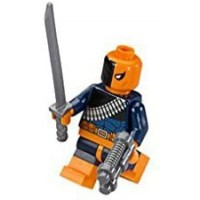 Lego Dc Comics Super Heroes Batman Minifigure Deathstroke With Sword And Gun