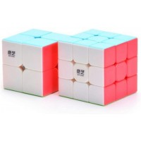 Cuberspeed Bundle Qiyi 3X3 Stickerless With Qiyi 2X2 Speed Cube Warrior W Upgraded Version Qidi
