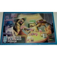 Schmid Dog Puzzle The Cardplayers 1000
