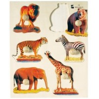 Wooden Wild Animals Knob Puzzle For Ages 2 Yrs And