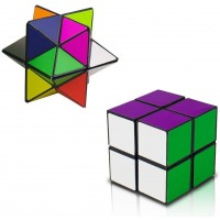 Magic Star CubeShonco 2 In 1 Combo Infinity Cube Toy Transforming Geometric Puzzle 3D Assembly