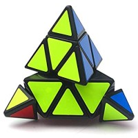 Qiyi Pyramid Speed Cube Triangle Magic Cuble Puzzle Toy Qi