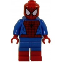 Lego Marvel Super Heroes Minifigure Spiderman W Dual Molded Red Boots