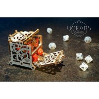 Ugears Mechanical Wooden Puzzle Model Modular Dice Keeper Device For Card