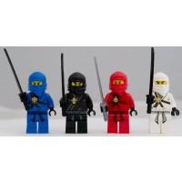 Lego Ninjago Set Of 4 Ninjago Minifigures Jay Kai Cole