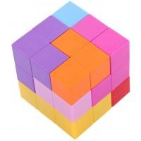 Dilwe Magic Cube 3X3X3 Magnetic Cube Puzzle Twist Building Blocks Magic Cube Stress Relief