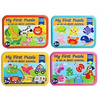 6 Pack Wooden Jigsaw Puzzles For Toddlers Kids 1 2 3 Years Old Educational Toys Including Animal