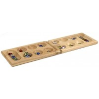 Pressman Mancala Real Wood Folding Set With Multicolor