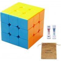 Lefree 3X3 Magic Cube For All Ages Comes With Two Hourglasses And Solution Guide Smooth Turning