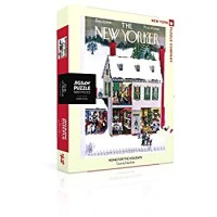 New York Puzzle Company New Yorker Home For The Holidays 500 Piece Jigsaw