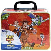 Toy Story 4 Large Lunch Tin Box With 48Pc Puzzle