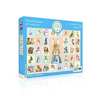 New York Puzzle Company Beatrix Potter Peter Rabbit Co 60 Piece Jigsaw