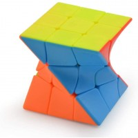 Sunway 3X3X3 Twisty Skewb Cube 3X3 Fisher Skewb Cube Puzzle Twisty 3X3 Stickerless Speed Cube