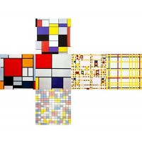 Vcube 5206457000937 Mondrian 3 Cube Toy
