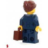 Lego City Minifigure Businesswoman Dark Blue Pants Suit Glasses