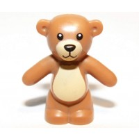 New Lego Minifig Light Brown Teddy Bear Boygirl Friends Minifigure Toy