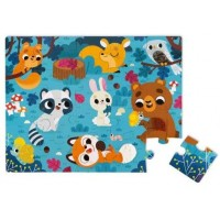 Janod Tactile Puzzle Forest Animals 20
