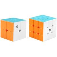 Coogam Qiyi Speed Cube Bundle 2X2 3X3 Magic Cube Set Qidi S 2X2 Warrior W 3X3 Stickerless Puzzle