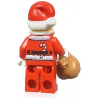 Lego Holiday Minifigure Santa Claus With North Pole Stand