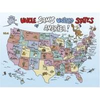 Springbok Uncle Sams Usa 60 Piece Juvenile Jigsaw