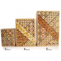 Japanese Yosegi Puzzle Box 4 Sun 12
