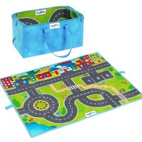 Roadway Vehicles Play Mat Storage Bag 3 pcs Playset