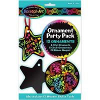 Ornament Scratch Art Party Craft 12 pc Set