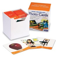 Basic Vocabulary Photo Cards Learning Activity Set