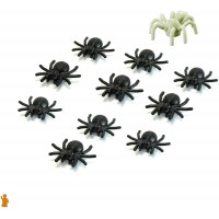 Lego Animal Halloween Accessory 10 Black Spiders With Bonus Glow In The Dark