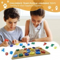Onmust Alphabet Puzzle Wooden Abc Puzzle Board For
