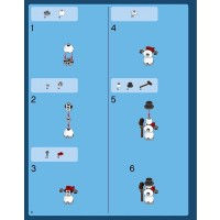 Lego Holiday Minifigure Snowman With Broom And Top Hat