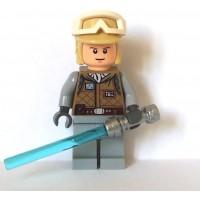 Lego Star Wars Mini Figure Luke Skywalker Hoth With Lightsaber
