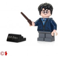 Lego 2018 Harry Potter Minifigure With Wand And Stand