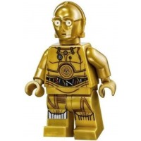 Lego Star Wars Minifigure C3Po Printed Legs Colorful Wires