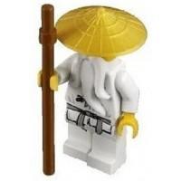 Lego Ninjago Sensei Wu Minifigure With Gold
