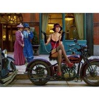 Puzzles For Adults 1000 Piece Motorcycle Beauty Entertainment Toys For Adult Special Graduation Or