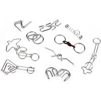 Professor Puzzle Puzzle Perplex Collection Set Of 10 Metal Entanglement Puzzlesbrain Teaser