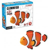 Build Your Own 3 Inch Clownfish Model 18 Piece 3D Puzzle Age 6 By