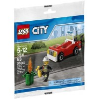 Lego City Town Fire Polybag Set Car
