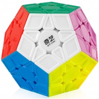 Coogam Qiyi Megaminx Cube Sculpted Stickerless 3X3 Pentagonal Dodecahedron Speed Cube Puzzle Toy