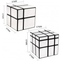 Dfantix Shengshou Mirror Cube Set 2X2 3X3 Mirror Blocks 2X2X2 3X3X3 Speed Cube Bundle Irregular