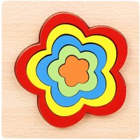 Babe Rock Wooden Jigsaw Puzzles For Toddlers Age 1 2 3 4 5 Shape Color Learning Educational