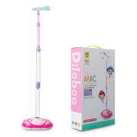 Girls Pink Electronic Microphone with Stand