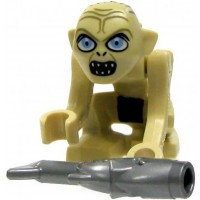 Lego The Lord Of The Rings Gollum Minifigure Wide Eyes With Fish