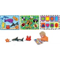 Melissa And Doug Chunky Puzzle Bundle Set 1 Sea Creatures 1 Insects And 1