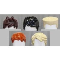 Lego Ninjago Ninja Set Of 5 Hair Pieces Loose Fits Lloyd Cole Kai Jay