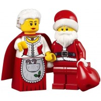 Lego Holiday Creator Set Of 2 Minifigures Mrs Claus And Santa With Red Sack