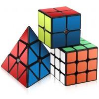 Speed Cube Set Roxenda Magic Cube Set Of 2X2X2 3X3X3 Pyramid Smooth Puzzle