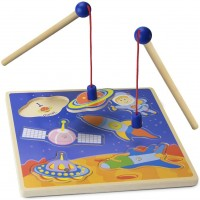 Imagination Generation Wooden Wonders Lift Look Magnetic Space Adventure Game With 2 Gravity Rods 6